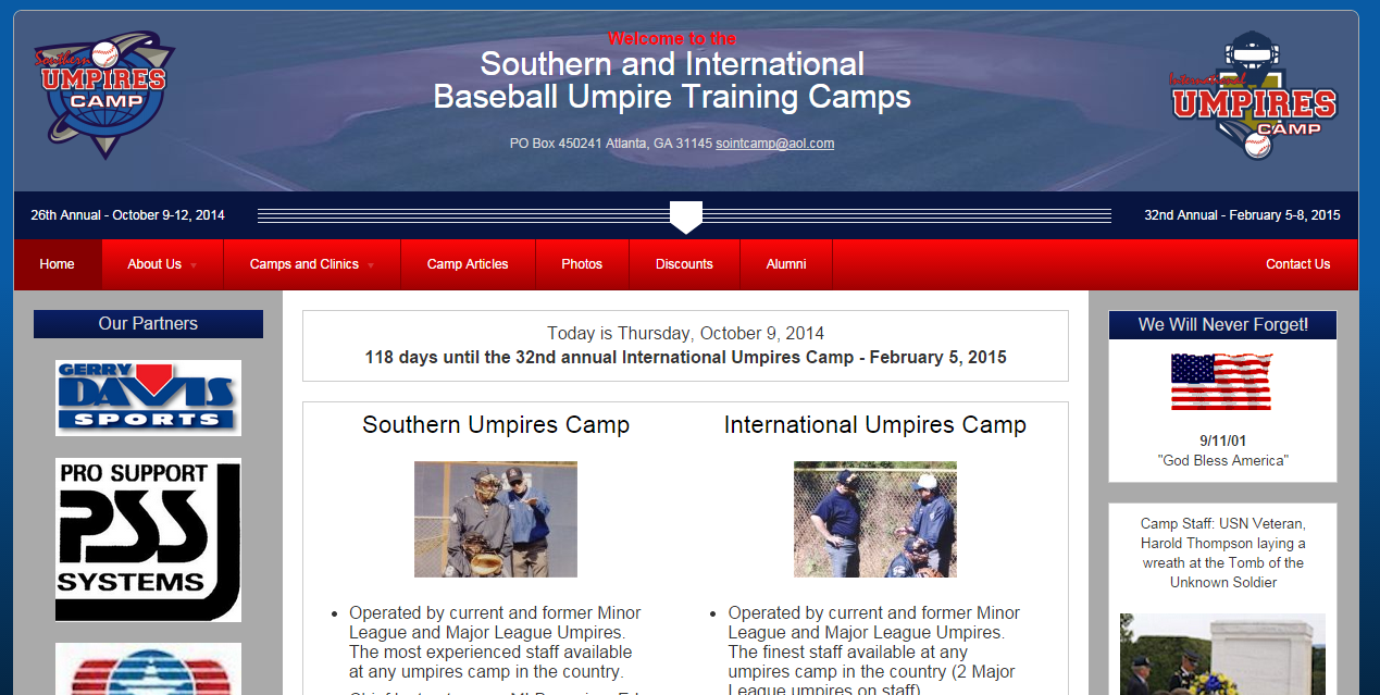 Southern and International Umpire Camps